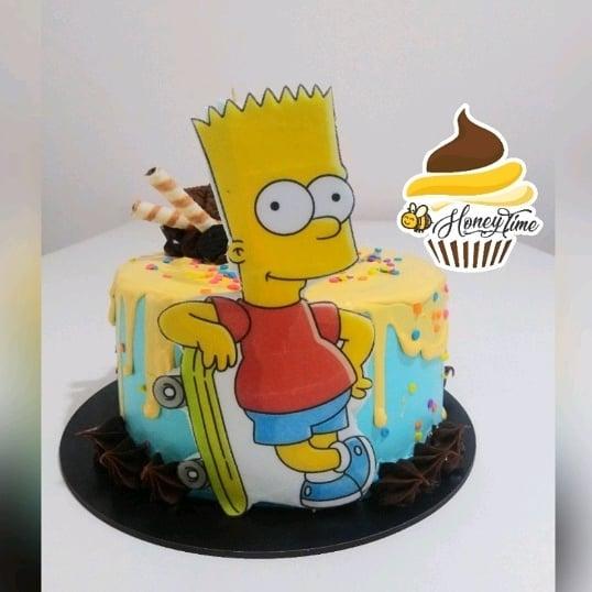 Strange Dripcake Bart Simpson Personalised Birthday Cards Veneteletsinfo